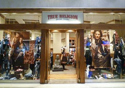 True Religion Brand Jeans storefront. Designer jeans in Las Vegas, NEVADA