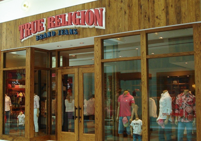 True Religion Brand Jeans storefront. Designer jeans in Arlington, VIRGINIA