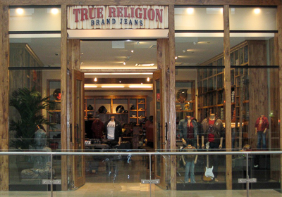 True Religion Brand Jeans storefront. Designer jeans in Paramus, NEW JERSEY