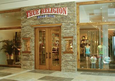 True Religion Brand Jeans storefront. Designer jeans in Canoga Park, CALIFORNIA