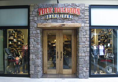 True Religion Brand Jeans storefront. Designer jeans in Bellevue, WASHINGTON