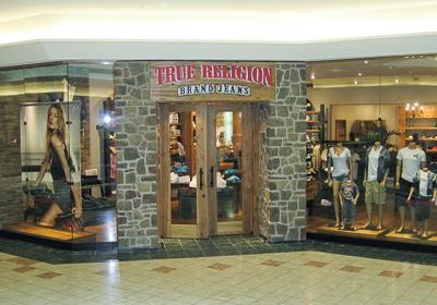 True Religion Brand Jeans storefront. Designer jeans in Palm Beach Gardens, FLORIDA