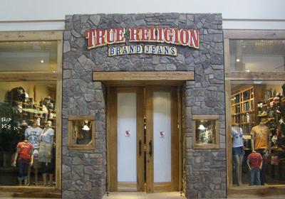 True Religion Brand Jeans storefront. Designer jeans in Lone Tree, COLORADO