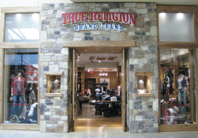 True Religion Brand Jeans storefront. Designer jeans in Scottsdale, ARIZONA