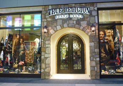 True Religion Brand Jeans storefront. Designer jeans in Santa Monica, CALIFORNIA