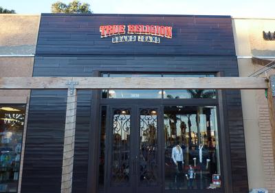 True Religion Brand Jeans storefront. Designer jeans in Malibu, CALIFORNIA