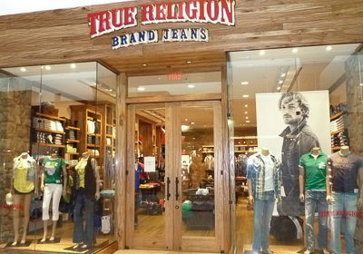True Religion Brand Jeans storefront. Designer jeans in Charlotte, NORTH CAROLINA