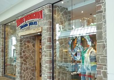 True Religion Brand Jeans storefront. Designer jeans in White Plains, NEW YORK