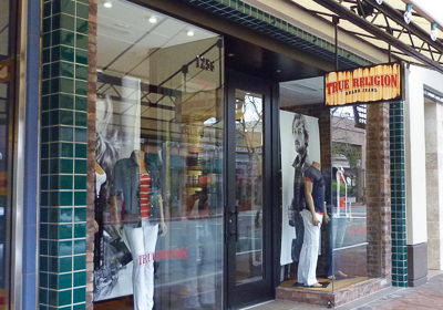 True Religion Brand Jeans storefront. Designer jeans in Walnut Creek, CALIFORNIA