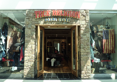 True Religion Brand Jeans storefront. Designer jeans in Towson, MARYLAND