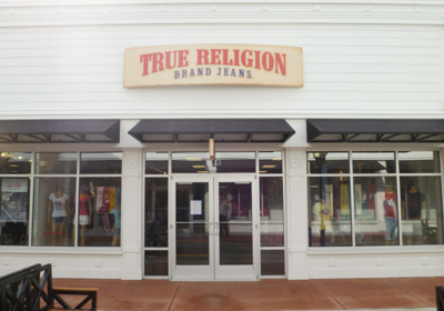 True Religion Brand Jeans storefront. Designer jeans in Merrimack, NEW HAMPSHIRE